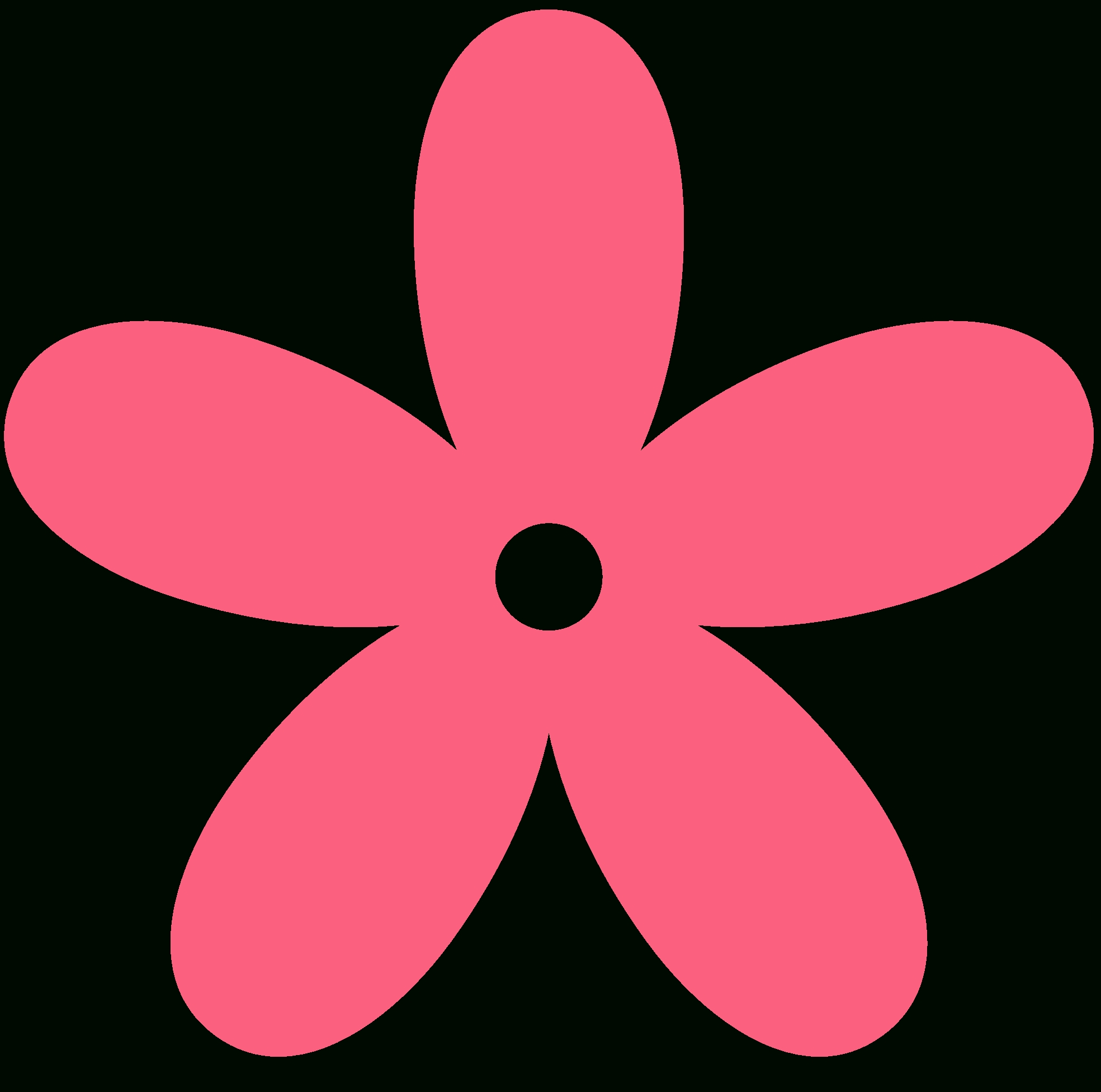 1969x1952 Simple Flower Clip Art