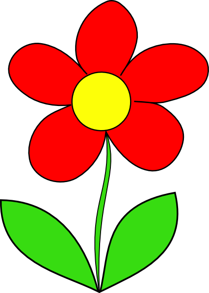 426x597 Simple Flower Clip Art At Clker Com Vector Online