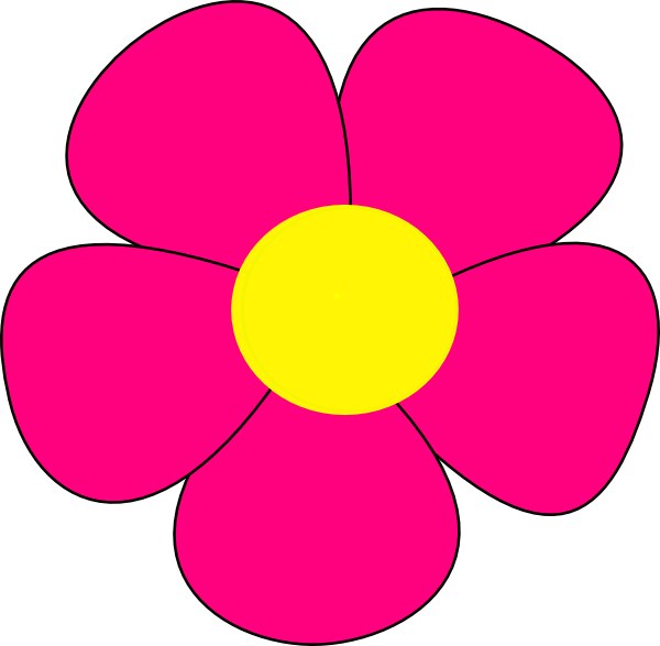 600x587 Simple Flower Clip Art