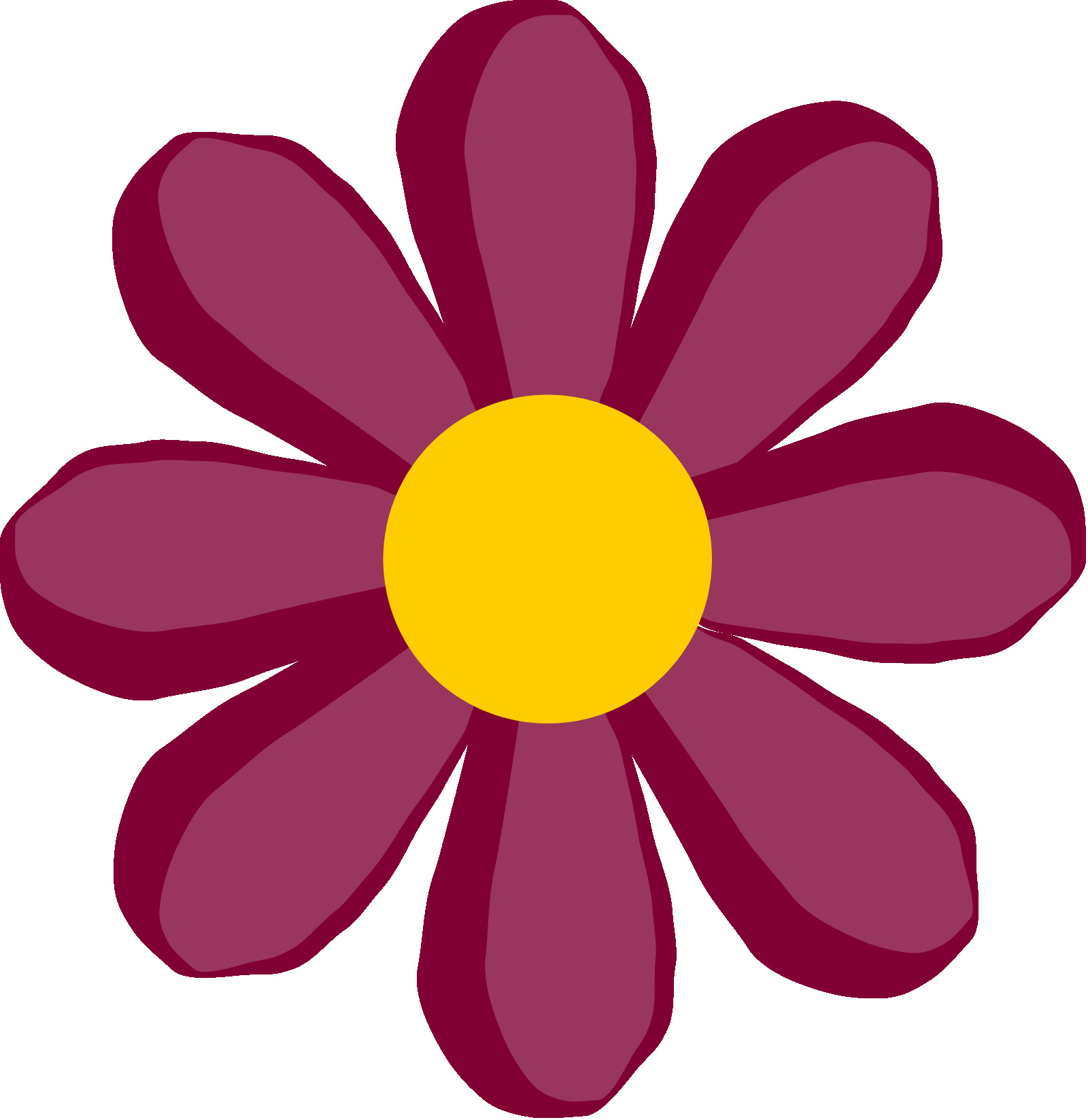 1600x1647 Simple Flower Clipart