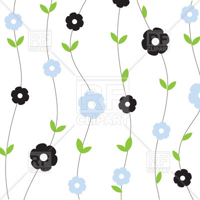 400x400 Simple Vertical Floral Background Royalty Free Vector Clip Art