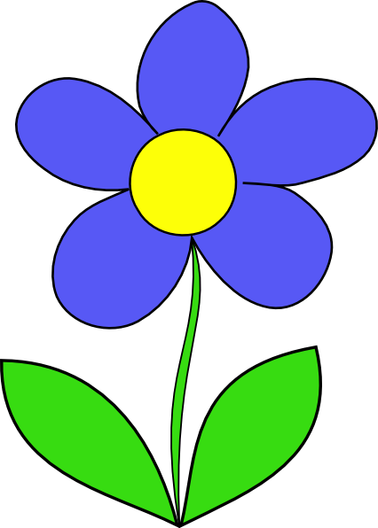426x596 Cartoon Flowers Clip Art Simple Flower Clip Art