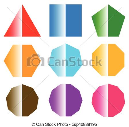 450x442 Basic Shapes With Shine. Set Of 9 Shape Icons Eps Vectors