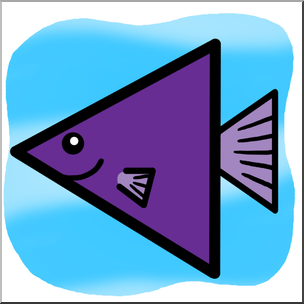 304x304 Clip Art Basic Shapes Fish Trianglefish Color I