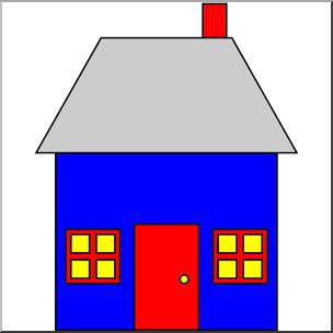 304x304 Clip Art Basic Shapes House 2 Color I Abcteach