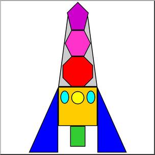 304x304 Clip Art Basic Shapes Rocket Color I Abcteach
