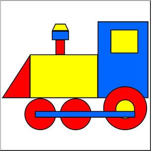 304x304 Clip Art Basic Shapes Train Color I Abcteach