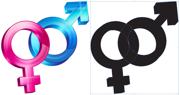 600x316 Create Gender And Orientation Symbols With Basic Shapes In Illustrator