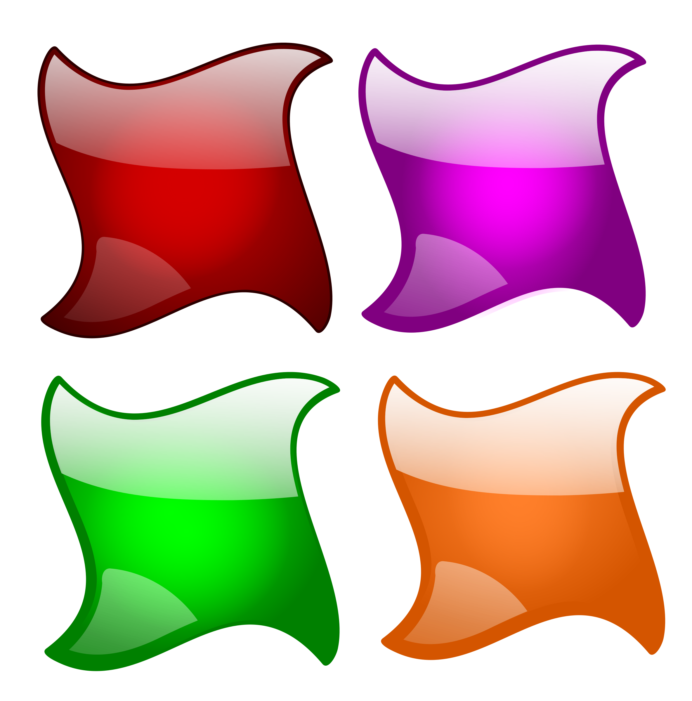 2369x2400 Glossy Shapes 1 Icons Png