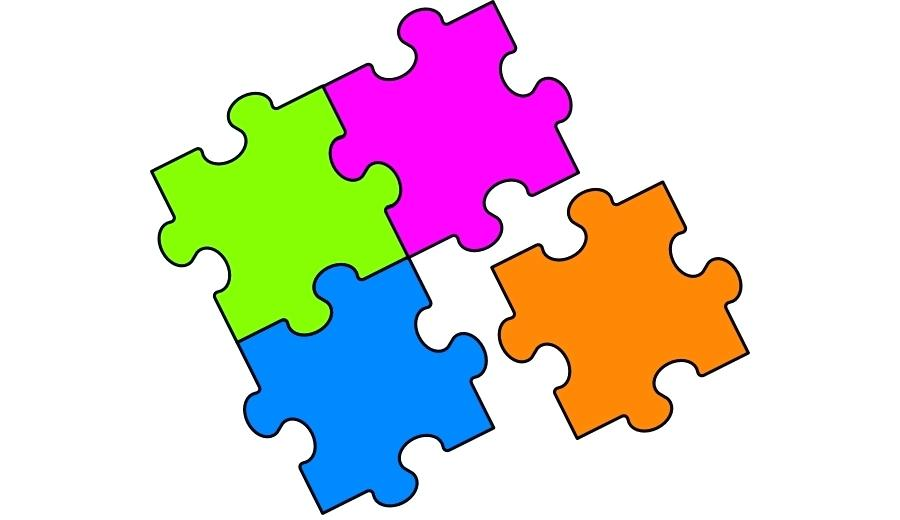 900x520 Jigsaw Puzzle Clip Art Mascot Illustration Of Jigsaw Puzzle Pieces