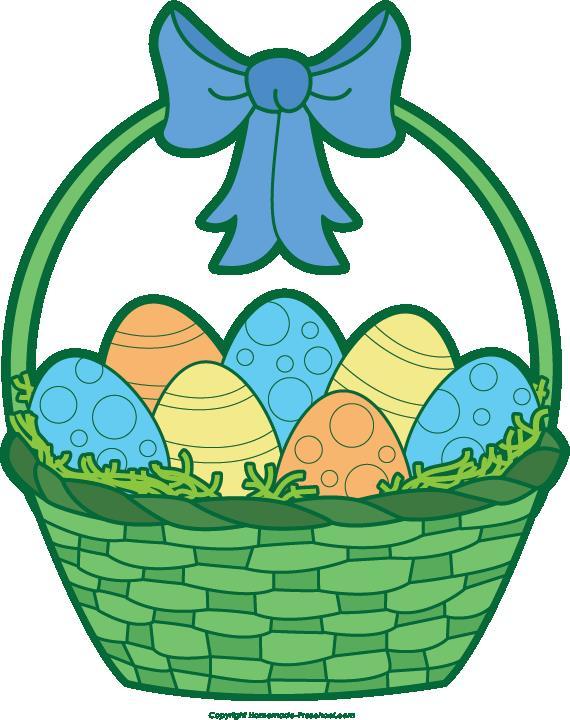 570x720 Easter Egg Basket Clip Art Hd Easter Images