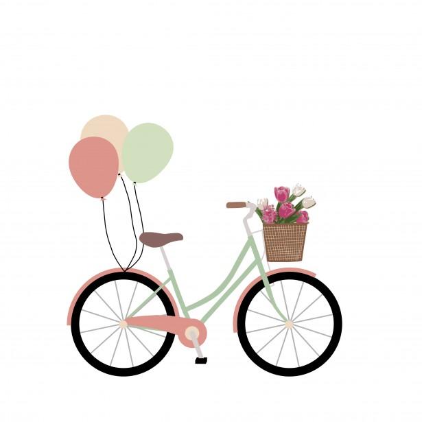 615x615 Bicycle Clipart Basket Clip Art