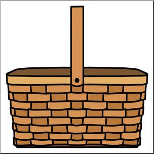 304x304 Clip Art Picnic Basket Color I Abcteach