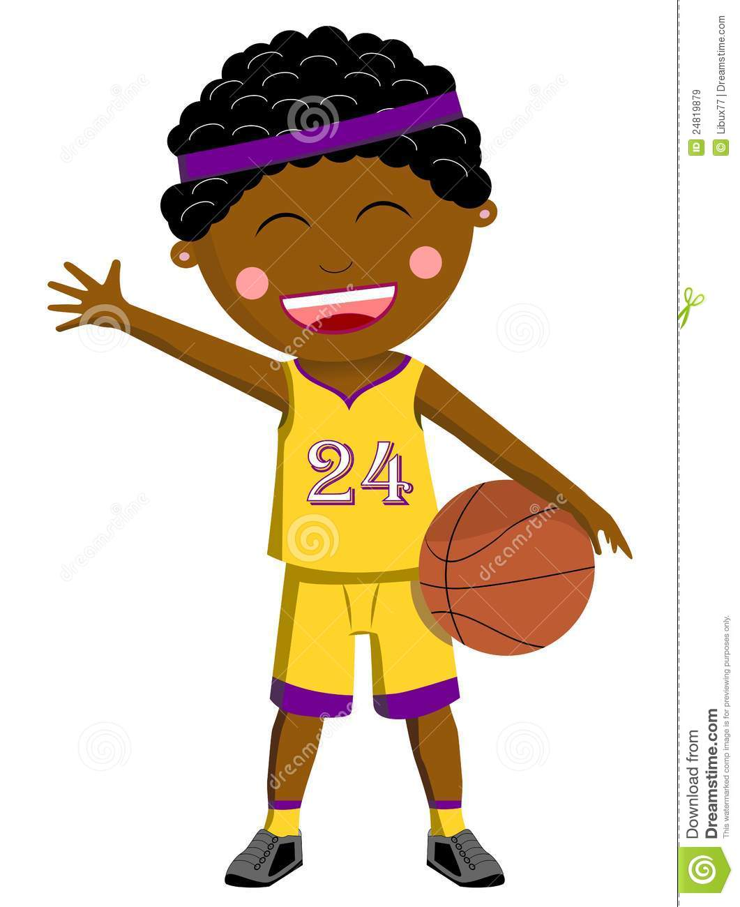1061x1300 Black Basketball Kid Stock Vector