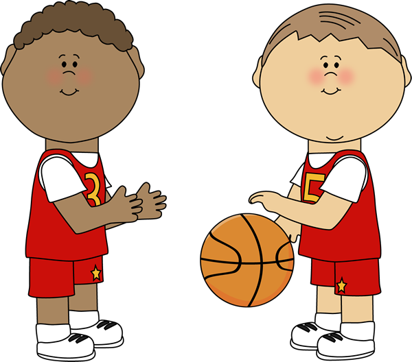 600x528 Boys Playing Basketball Basketball Printables Clip