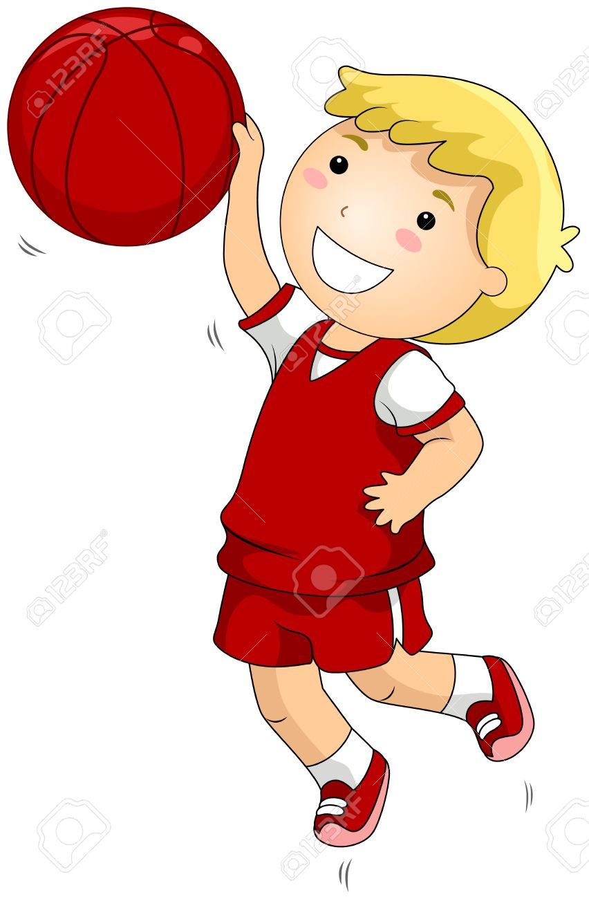 852x1300 Kid Basketball Player Clipart