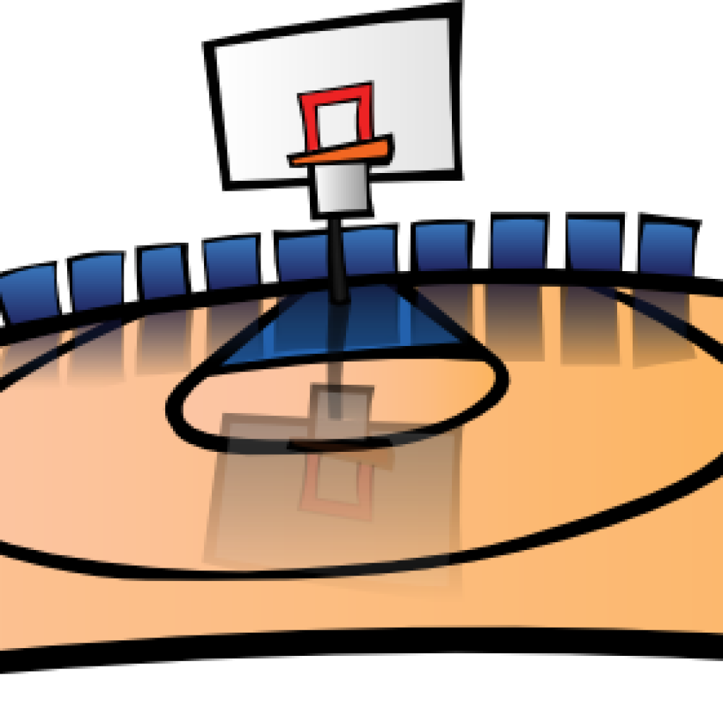 1024x1024 Cartoon Basketball Court Fish Clipart
