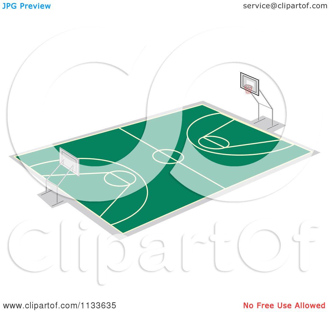 1080x1024 Cartoon Of A Basketball Court