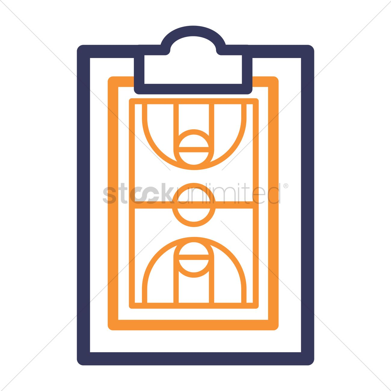1300x1300 Clipboard And Basketball Court Icon Vector Image