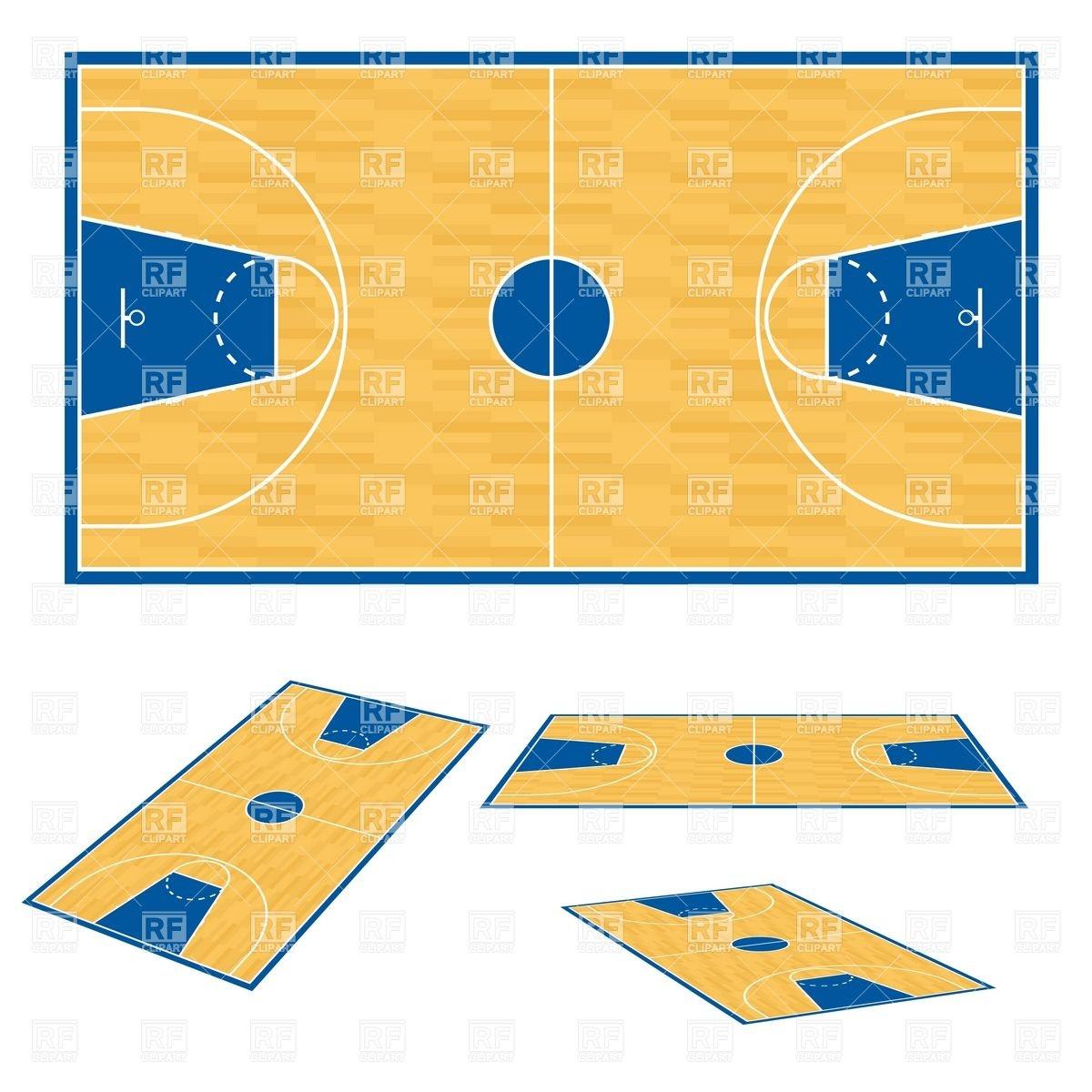 1200x1200 Basketball Court Floor Plan Royalty Free Vector Clip Art Image