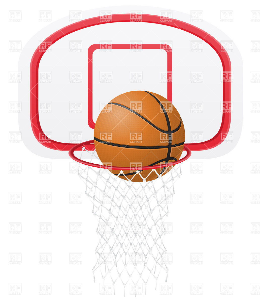 1032x1200 Basketball Ball In The Basket Royalty Free Vector Clip Art Image