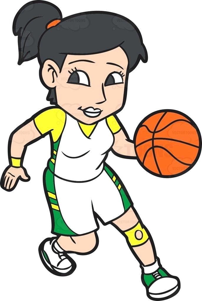 686x1024 Clip Art Of Basketball Girl Basketball Player Panda Free Images