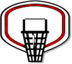 300x267 Free Clipart Image Of A Basketball Hoop