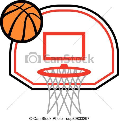 450x458 Basketball Hoop Vector Icon Illustration Eps Vectors