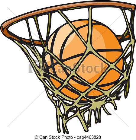 450x464 Basketball Vector