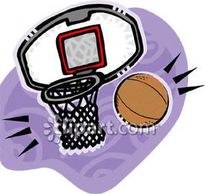 300x283 Clip Art Basketball Hoop No Backboard Clipart