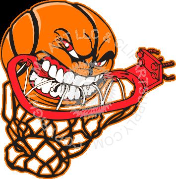 355x361 Basketball Hoop Clip Art Basketball Eating Hoop Sports