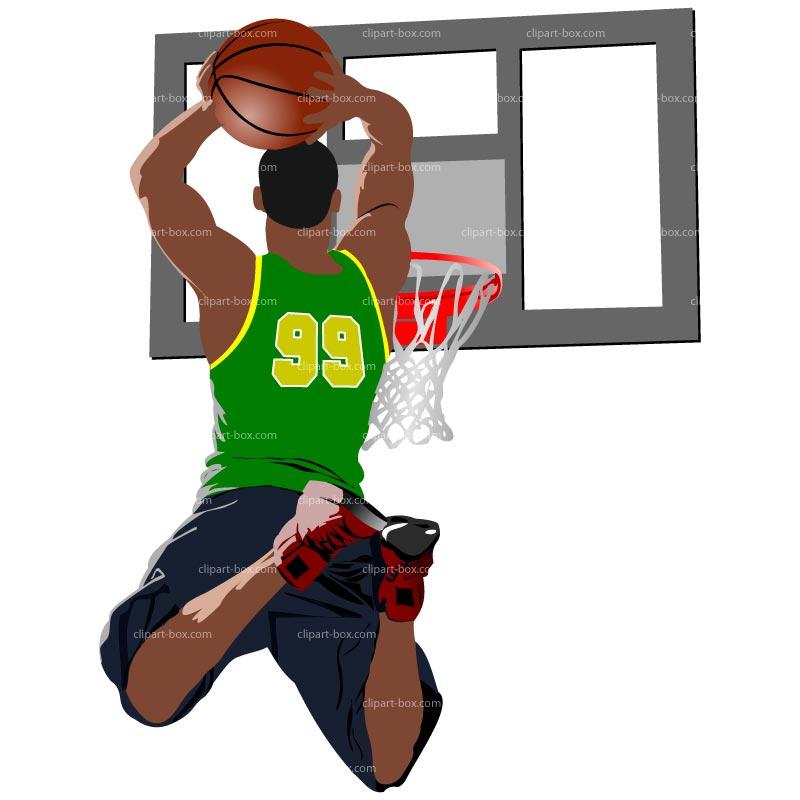800x800 Basketball Player Dunking Clipart