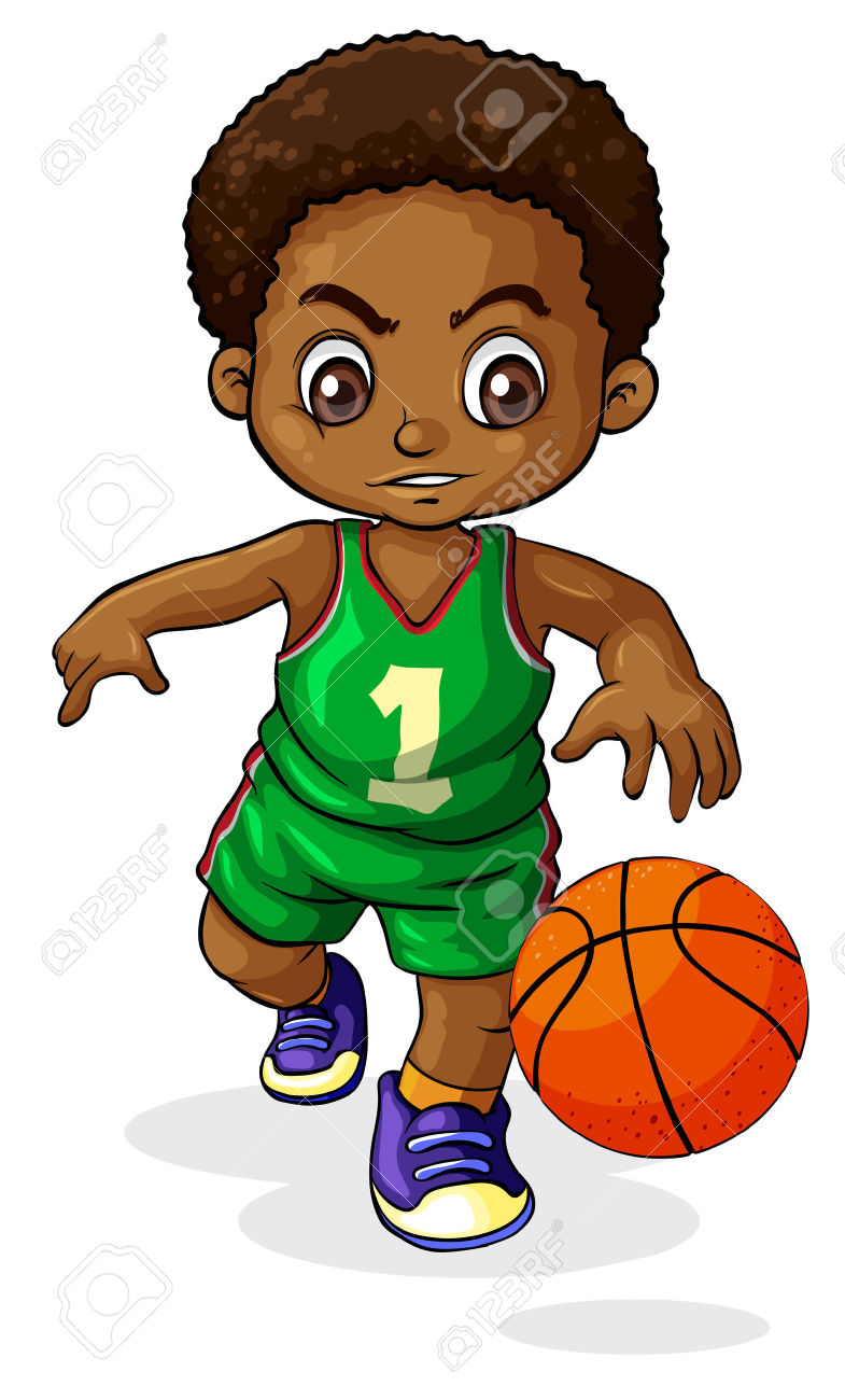 785x1300 Clipart Playing Basketball Inside