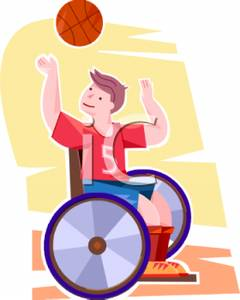 240x300 A Boy Playing Basketball While Sitting In A Wheelchair