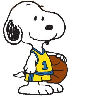 348x335 Snoopy Clipart Basketball