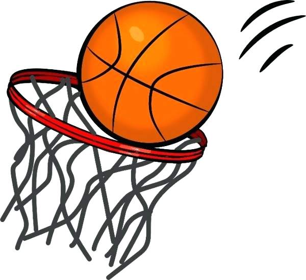 600x550 Clip Art Of Basketball Basketball Clipart Black And White Png