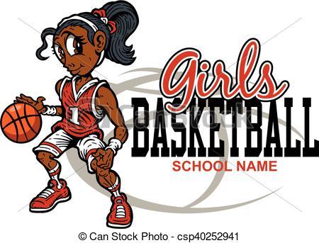 450x343 Cute Girls Basketball Team Design For School, College Or Eps