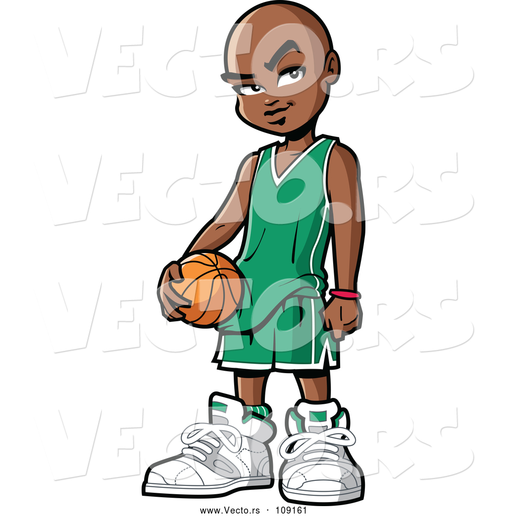 1024x1044 Vector Of Black Boy Holding A Basketball By Clip Art Mascots