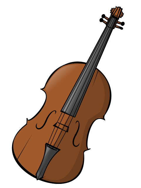 480x640 Free Clip Art Violin Dark Monochrome Outline Double Bass Bow