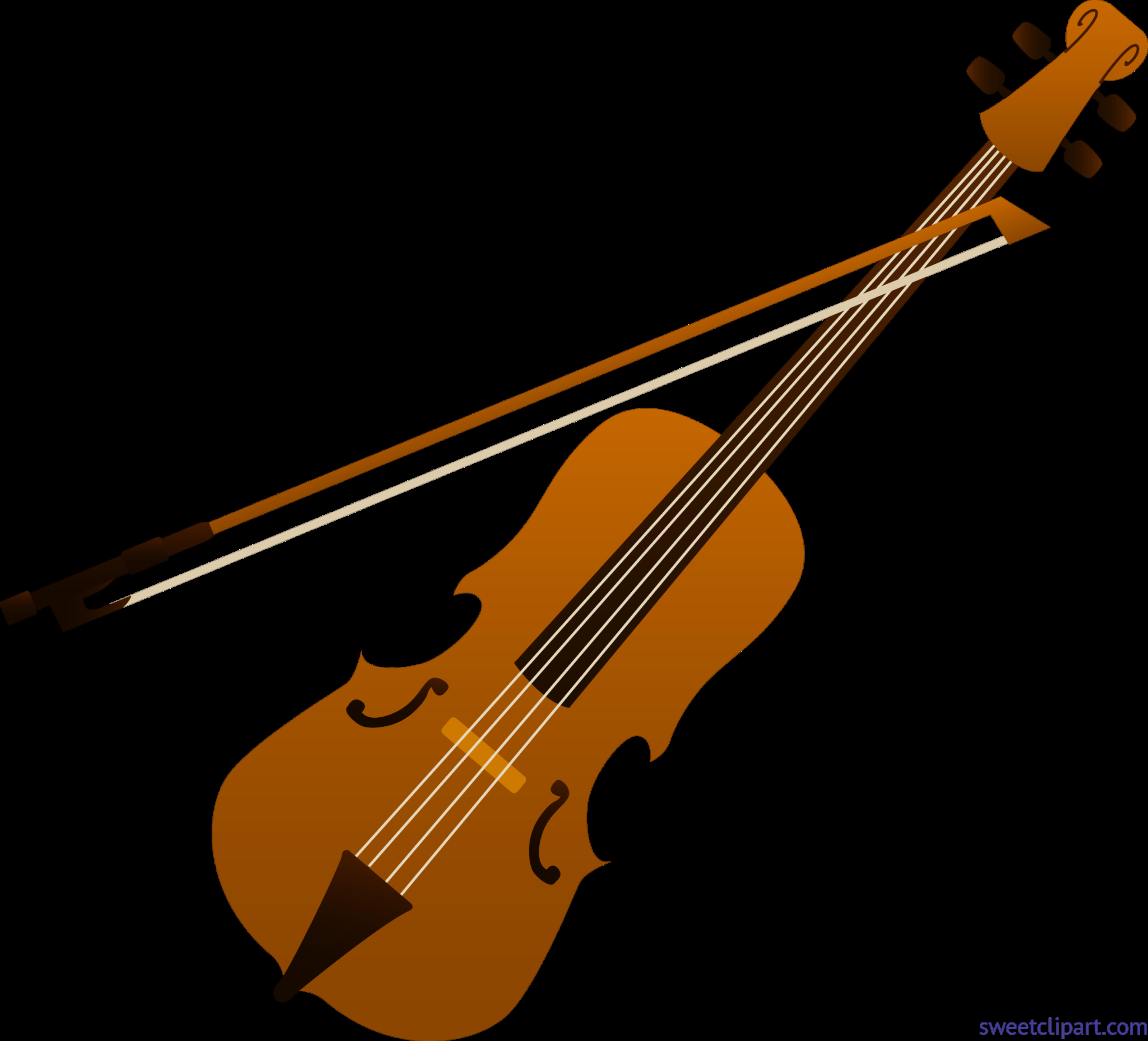 7369x6681 Violin Clip Art