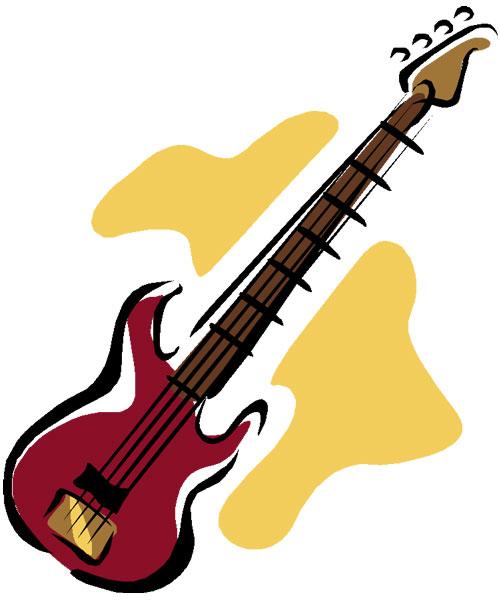 500x600 Bass Guitar Clipart