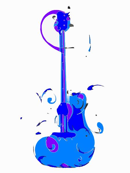 450x600 Blue Guitar Png, Svg Clip Art For Web