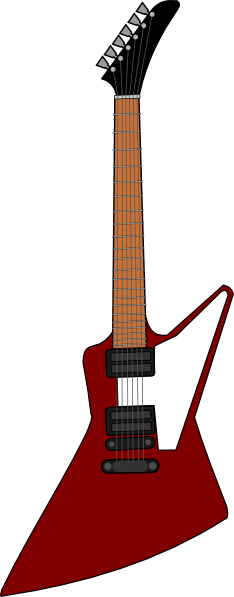 234x597 Gibson Explorer Guitar Clip Art Free Vector 4vector