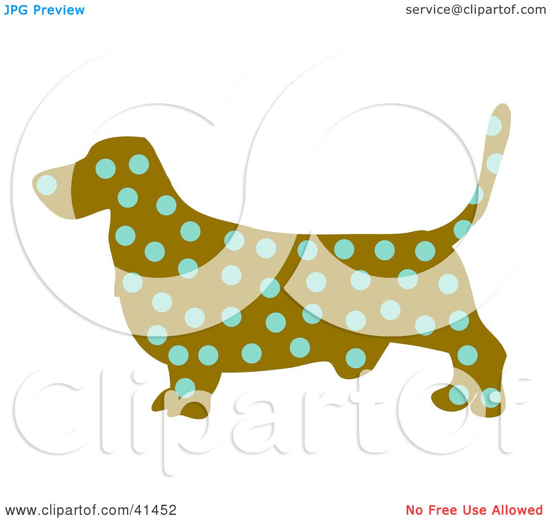 1080x1024 Clipart Illustration Of A Brown Profiled Basset Hound Dog