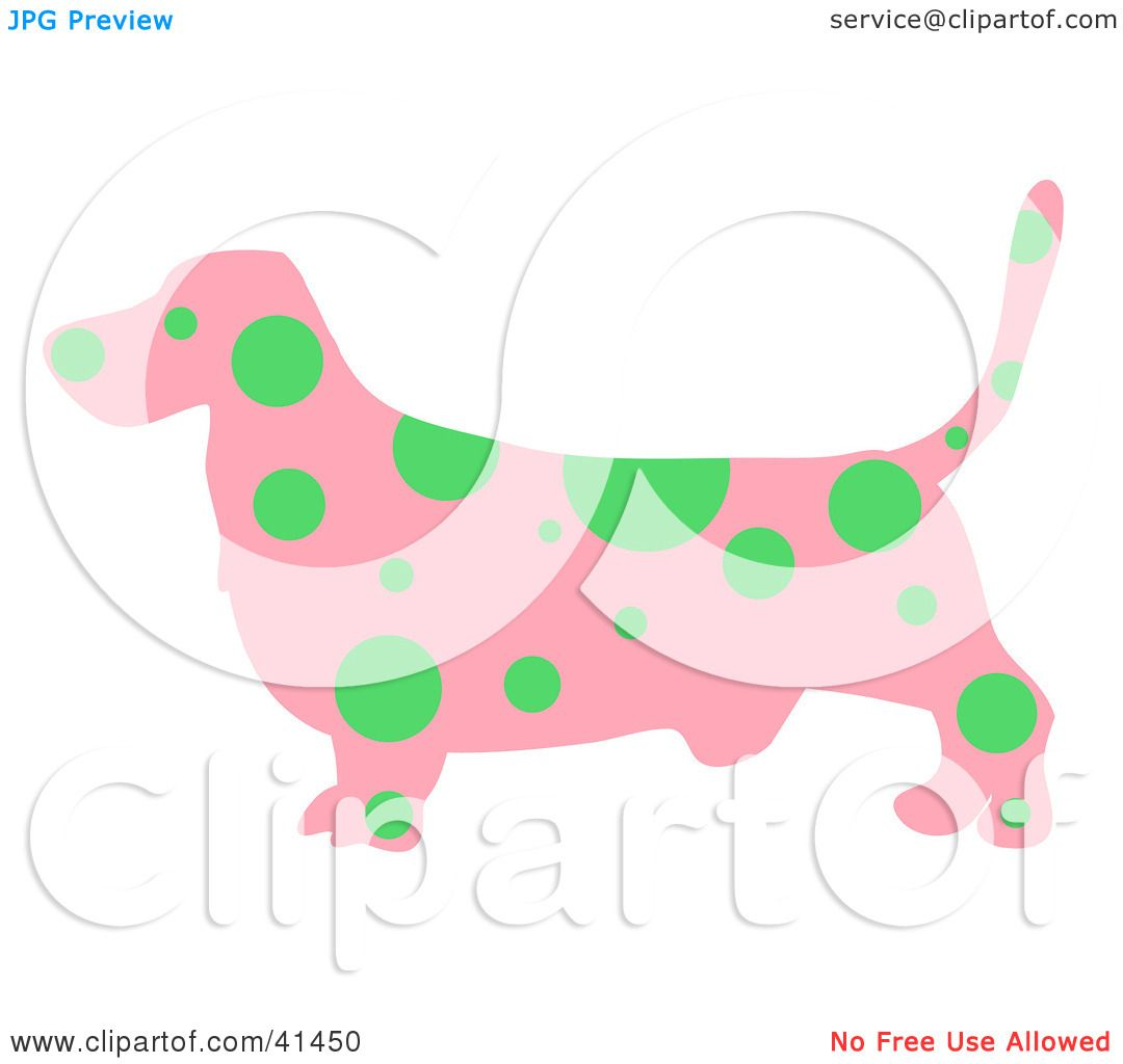 1080x1024 Clipart Illustration Of A Pink Profiled Basset Hound Dog