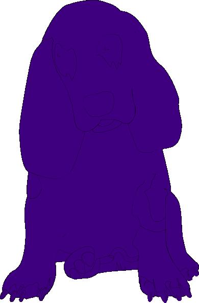 390x593 Purple Basset Hound Clip Art