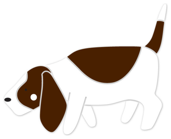 574x468 Basset Hound Dog Stencil For Painting