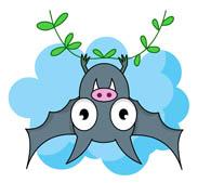 195x169 Free Bat Clipart