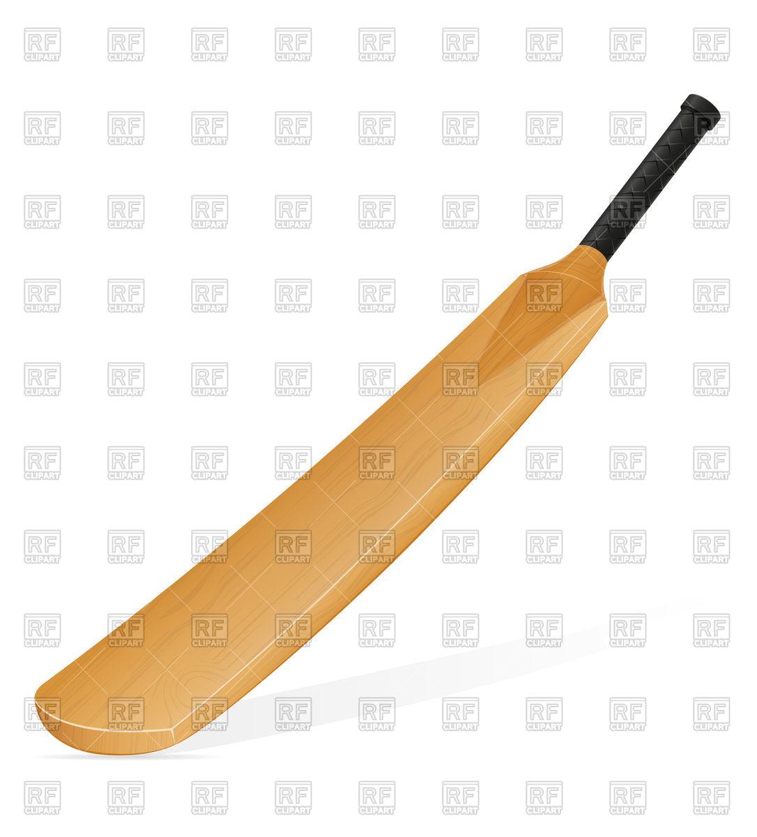 1086x1200 Cricket Bat Royalty Free Vector Clip Art Image