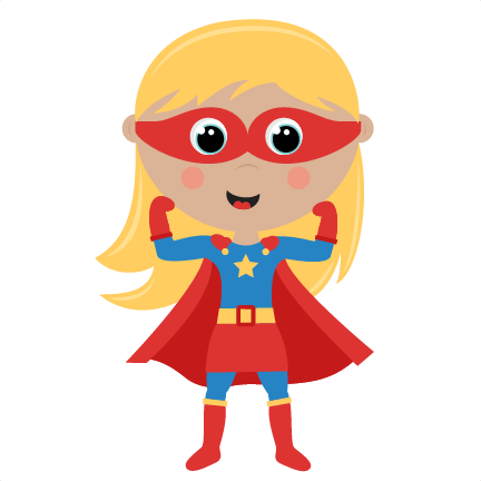 432x432 Kids Superheroes Clipart Collection